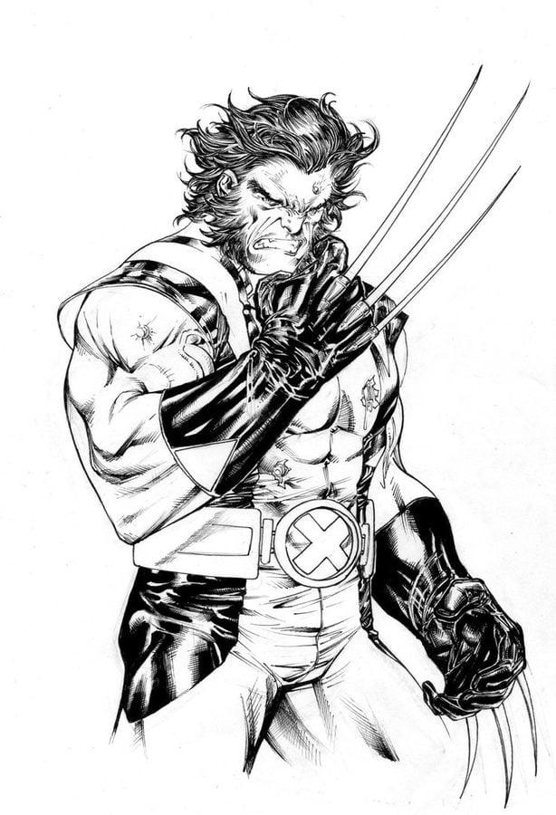 Disegni da colorare: Wolverine stampabile, gratuito, per