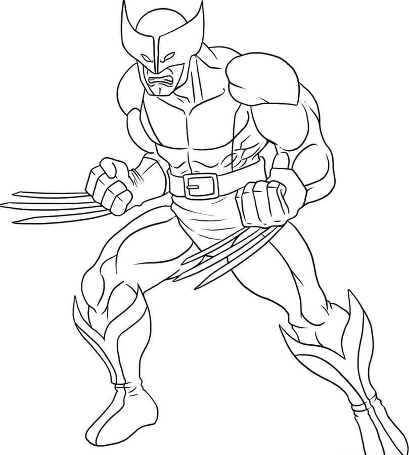 Ausmalbilder: Ausmalbilder: Wolverine zum ausdrucken