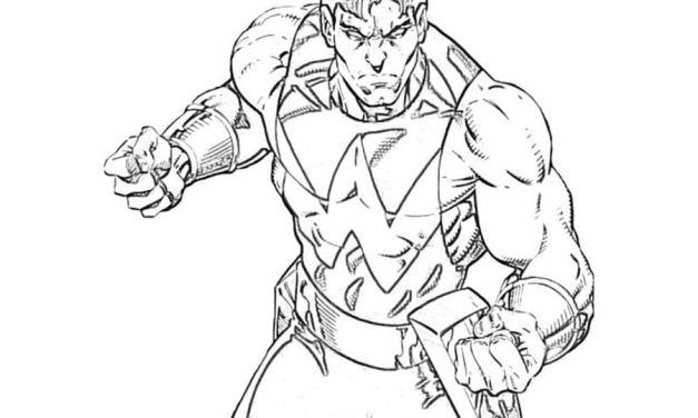 Ausmalbilder: Wonder Man