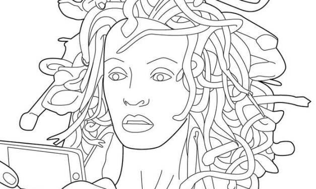Ausmalbilder: Medusa