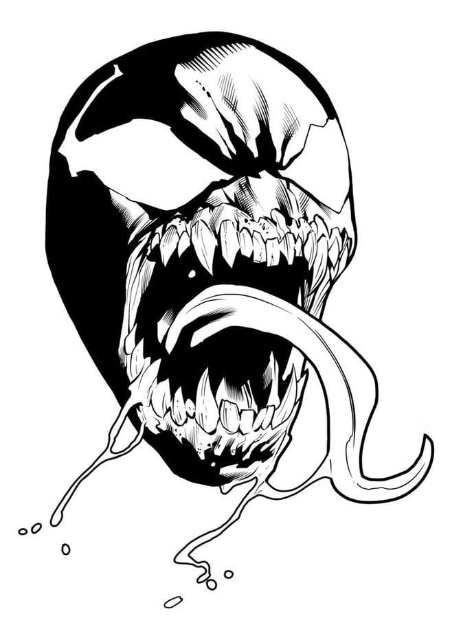 Kolorowanki: Venom do druku dla dzieci i dorosłych