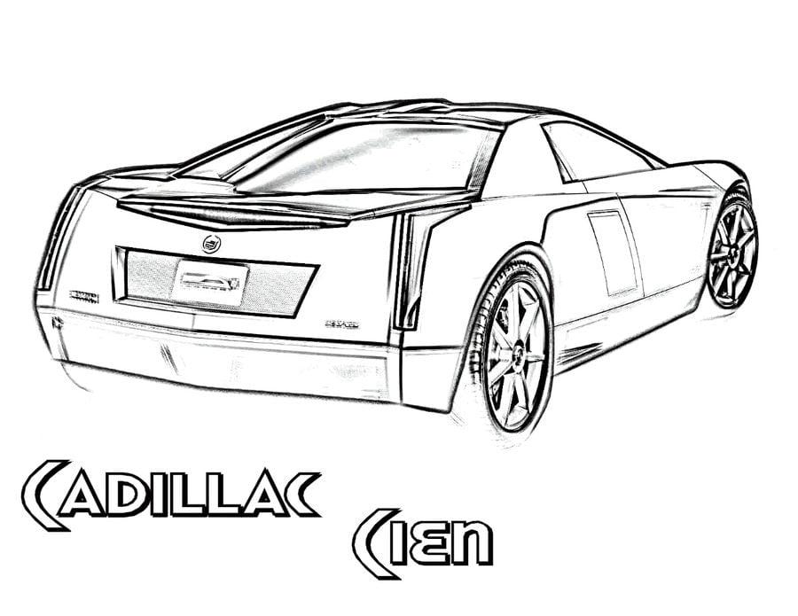 Ausmalbilder: Ausmalbilder: Cadillac zum ausdrucken