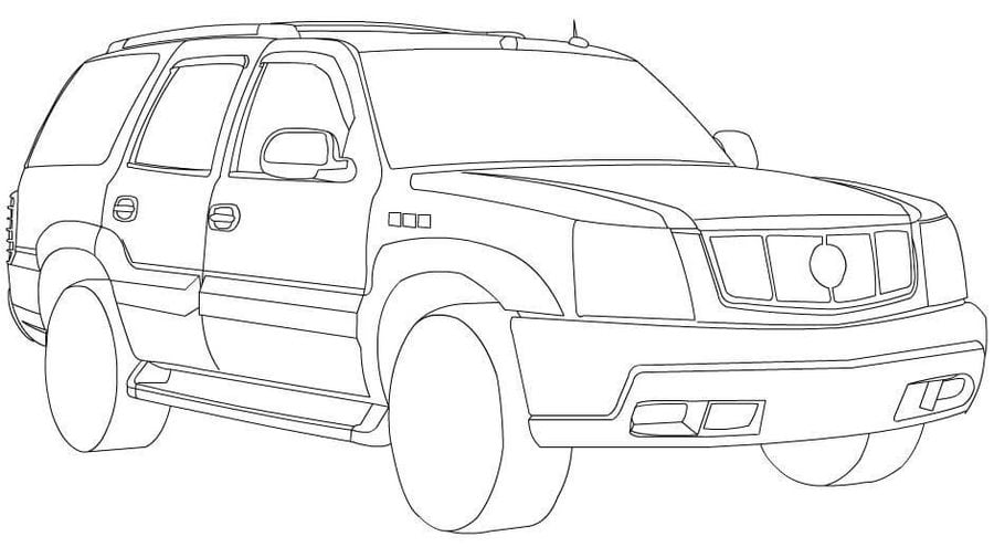 Coloring pages: Coloring pages: Cadillac, printable for