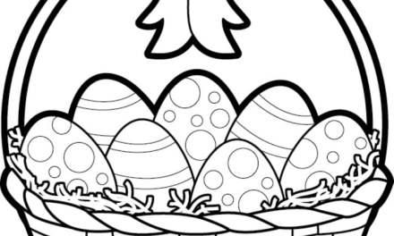 Ausmalbilder: Osterkorb