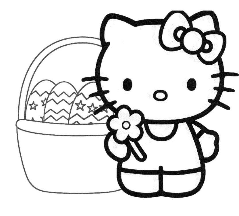 Dibujos Para Colorear Canasta De Pascua Imprimible Gratis