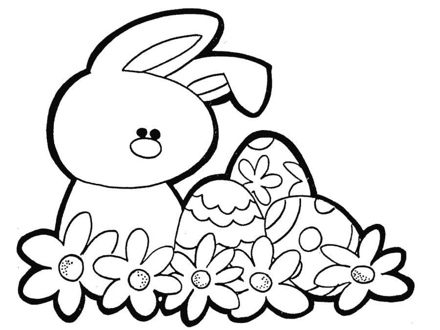 Kolorowanki Kolorowanki Królik Wielkanocny Do Druku Dla Dzieci I