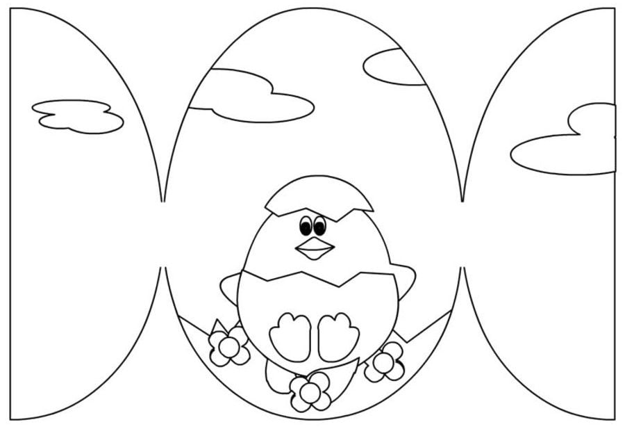 Coloring pages: Easter Cards, printable for kids & adults