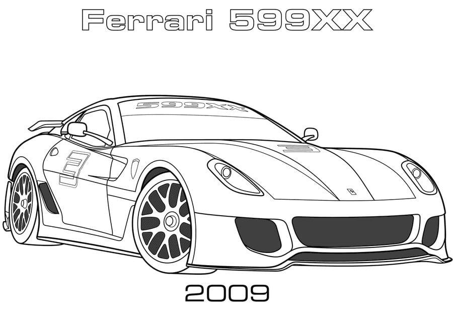 Disegni da colorare: Disegni da colorare: Ferrari