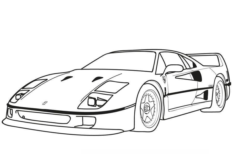 Coloriages: Ferrari imprimable, gratuit, pour les enfants