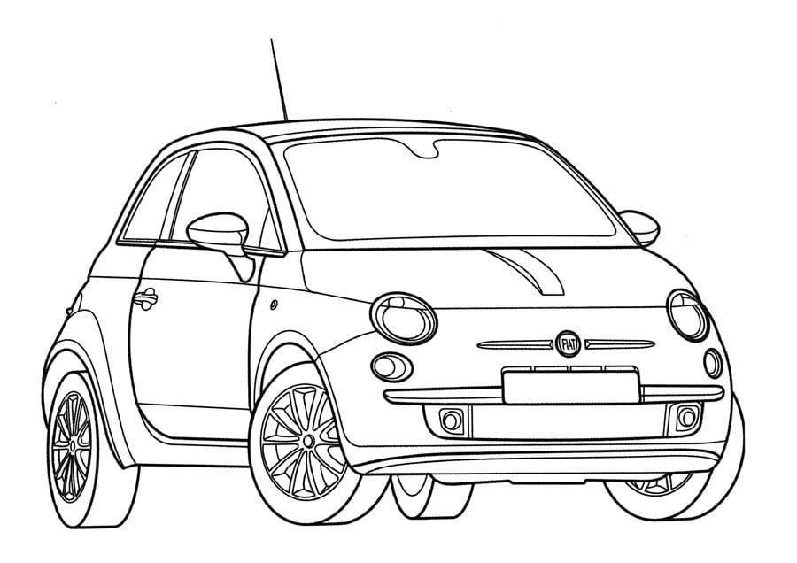 Dibujos para colorear: Fiat imprimible, gratis, para los