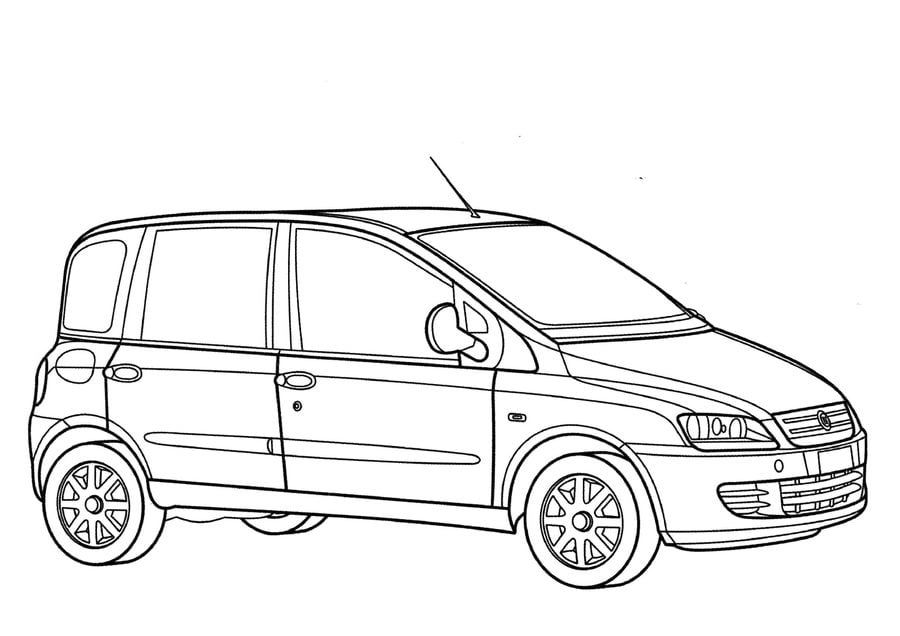 Coloring pages: Fiat, printable for kids & adults, free