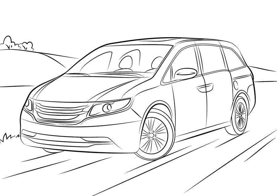 Disegni da colorare: Disegni da colorare: Honda stampabile