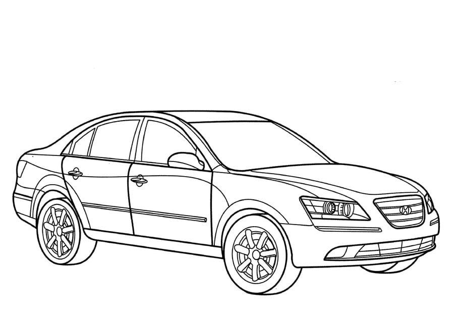 Ausmalbilder: Ausmalbilder: Hyundai zum ausdrucken