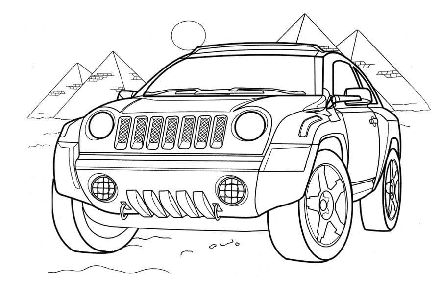 ausmalbilder jeep zum ausdrucken  kostenlos zum ausdrucken