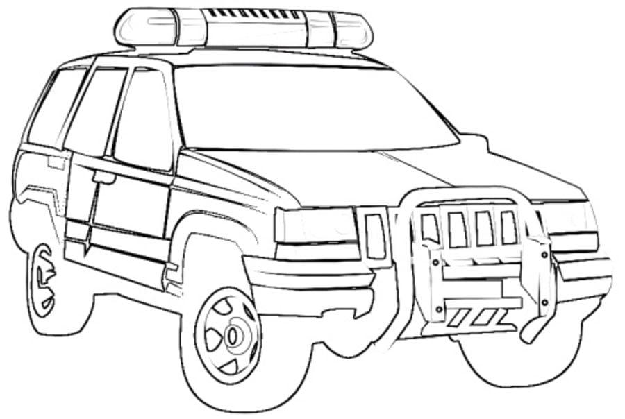 Kolorowanki: Kolorowanki: Jeep do druku dla dzieci i dorosłych