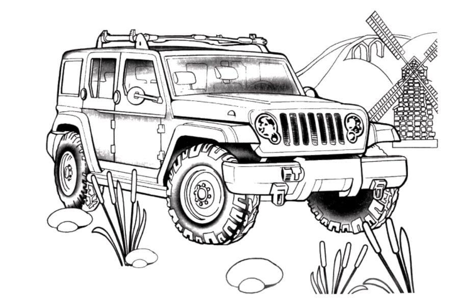 Ausmalbilder: Ausmalbilder: Jeep zum ausdrucken, kostenlos