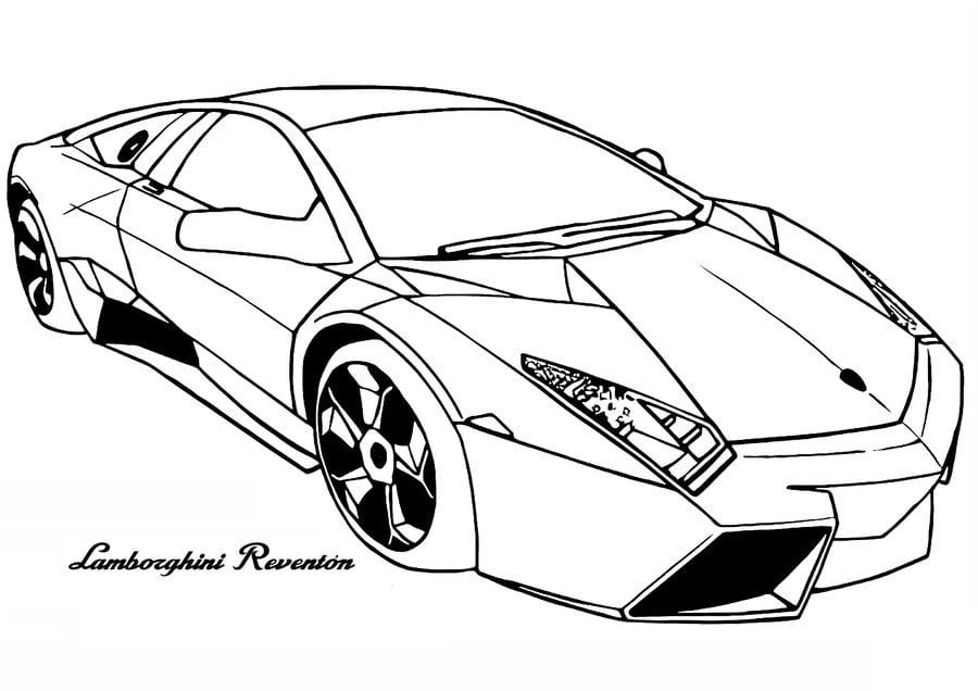 Dibujos para colorear: Lamborghini imprimible, gratis