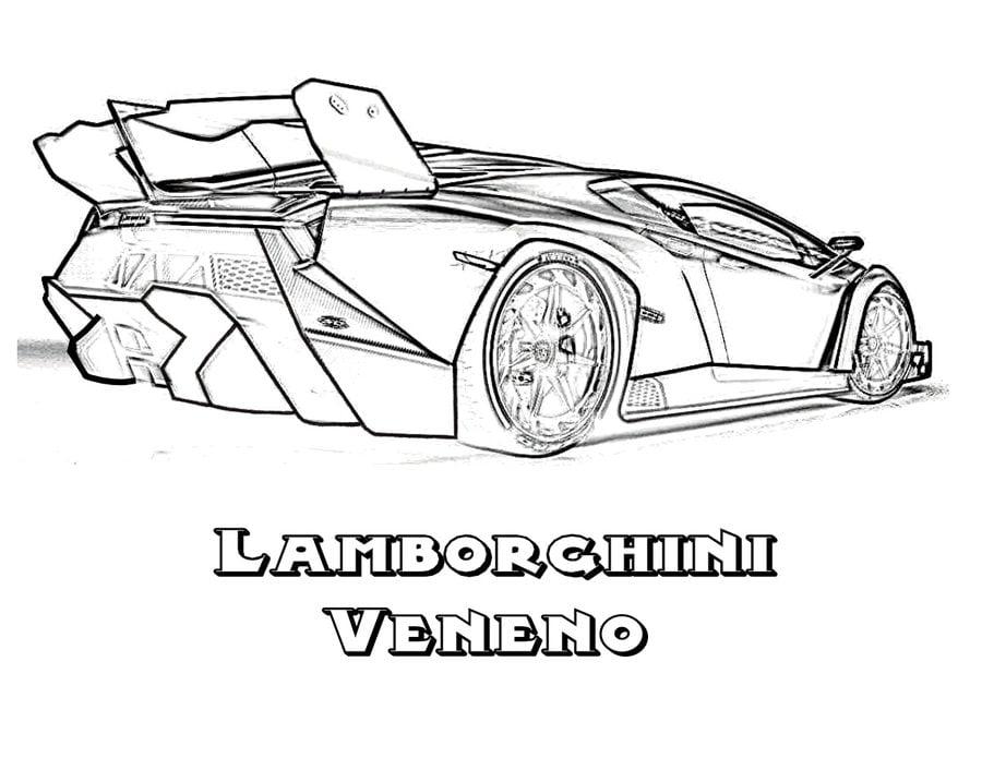 Lamborghini ausmalbilder ausdrucken