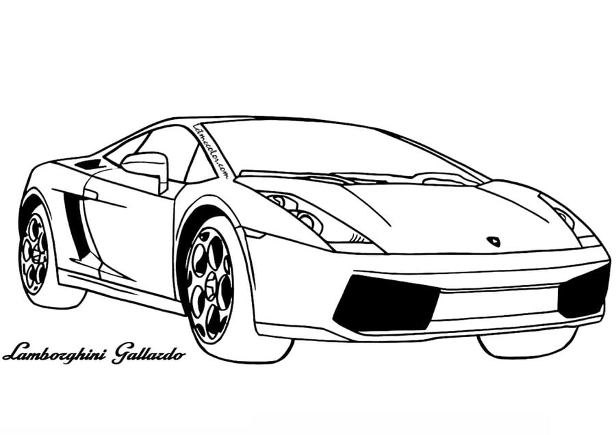 Kolorowanki: Kolorowanki: Lamborghini do druku dla dzieci