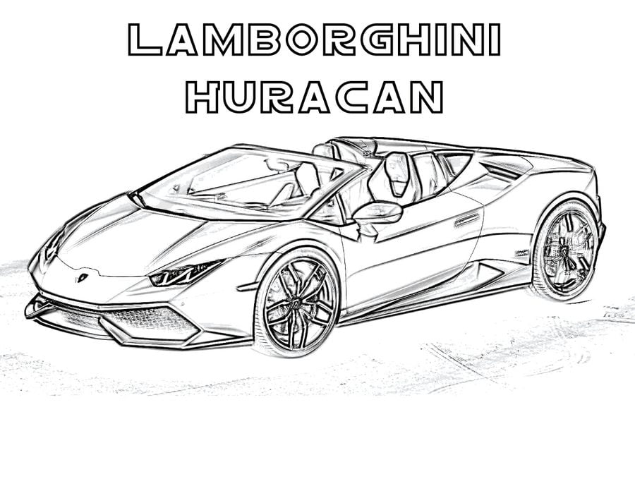 Coloring pages: Coloring pages: Lamborghini, printable for