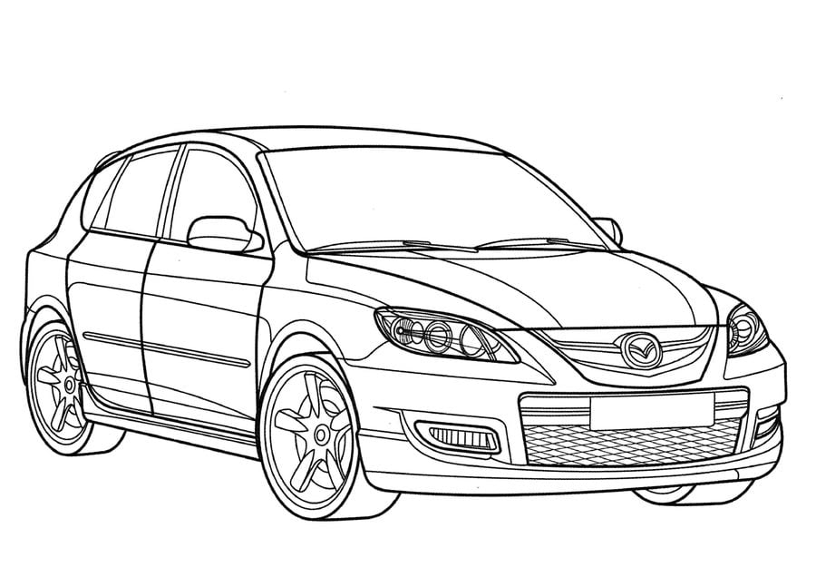 Ausmalbilder: Ausmalbilder: Mazda zum ausdrucken