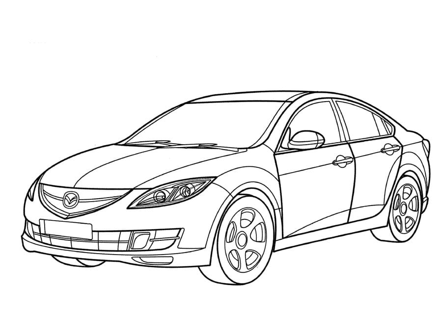 Coloring pages: Mazda, printable for kids & adults, free