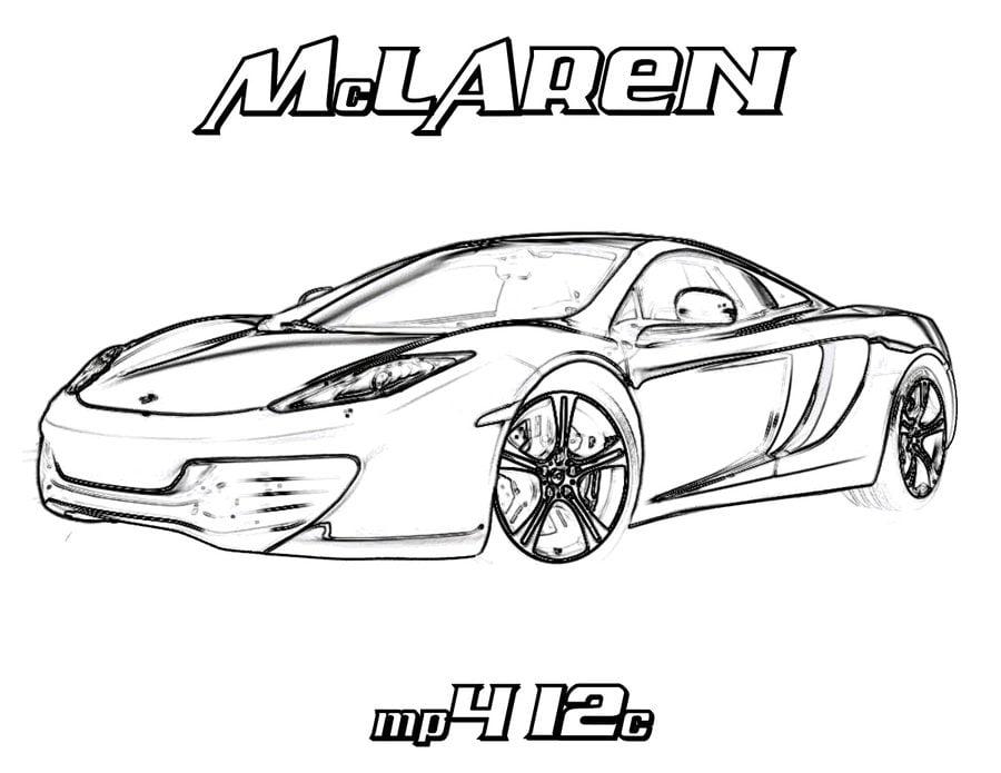 Kolorowanki: Kolorowanki: McLaren do druku dla dzieci i
