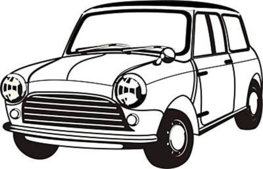 Ausmalbilder: Mini Cooper zum ausdrucken, kostenlos, für