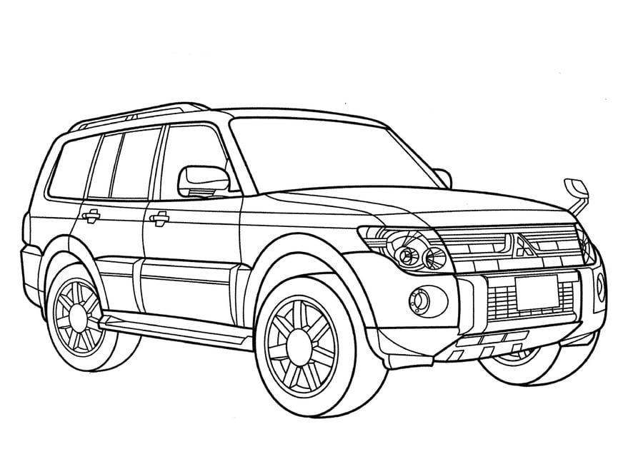 Dibujos para colorear: Mitsubishi imprimible, gratis, para