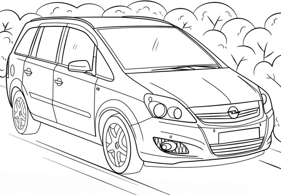 Kolorowanki: Kolorowanki: Opel do druku dla dzieci i dorosłych