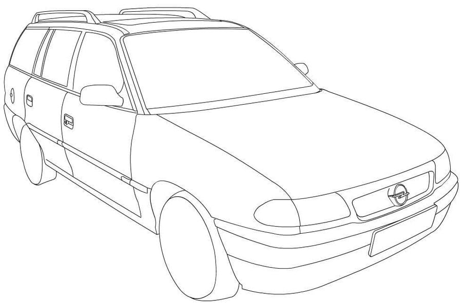 Ausmalbilder: Opel zum ausdrucken, kostenlos, für Kinder