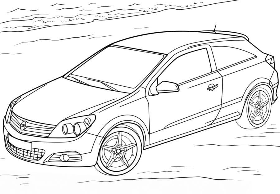 Disegni da colorare: Disegni da colorare: Opel stampabile