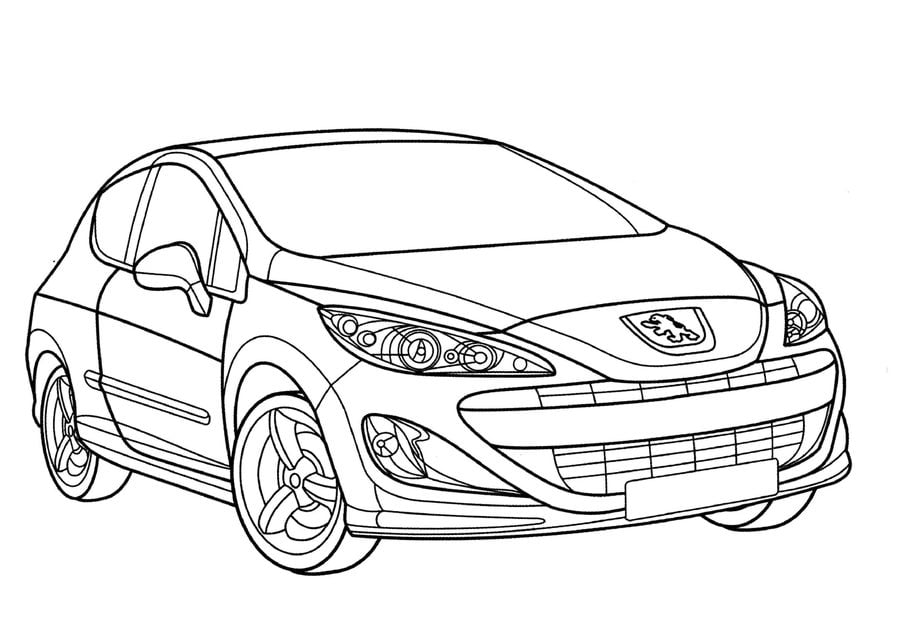 Coloring pages: Peugeot, printable for kids & adults, free