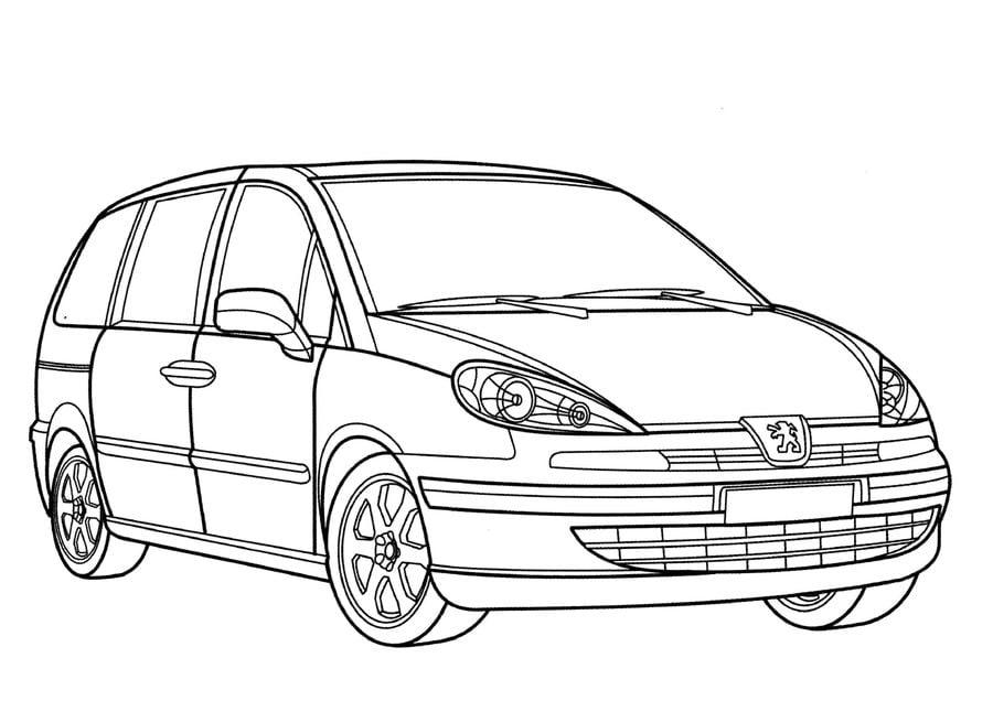 Ausmalbilder: Ausmalbilder: Peugeot zum ausdrucken