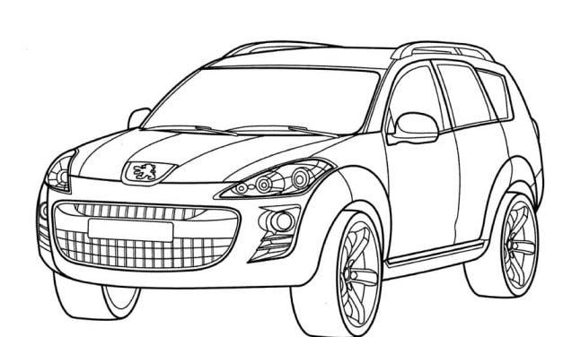 Kolorowanki: Samochody do druku dla dzieci i dorosłych do