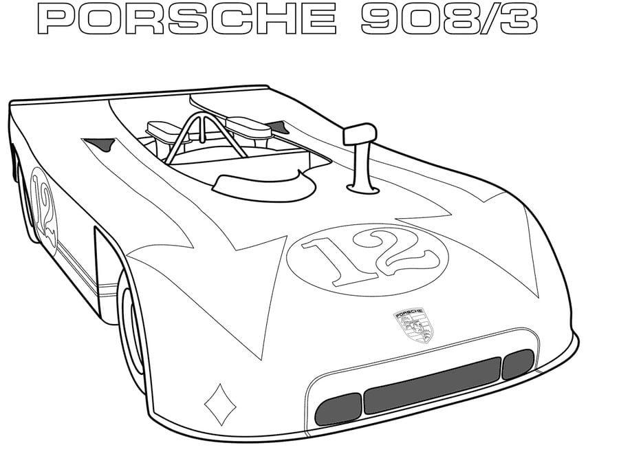 Disegni da colorare: Porsche stampabile, gratuito, per