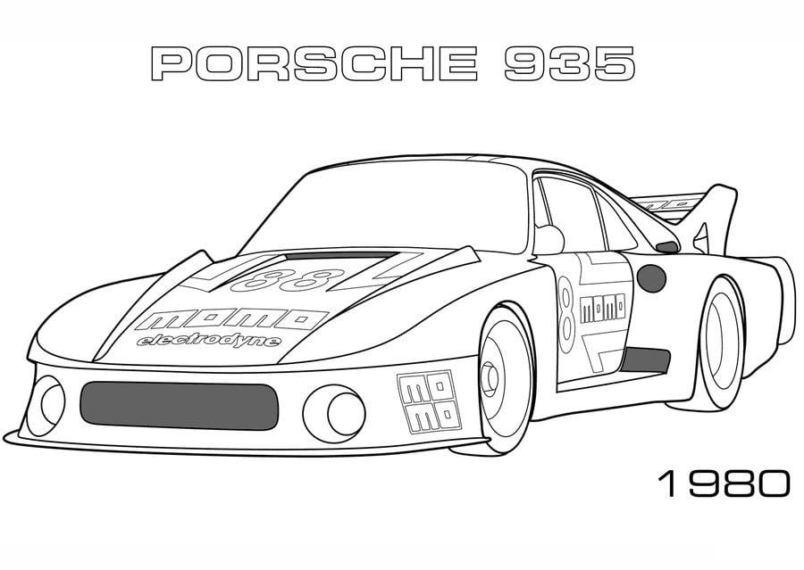 Malvorlage Porsche 911