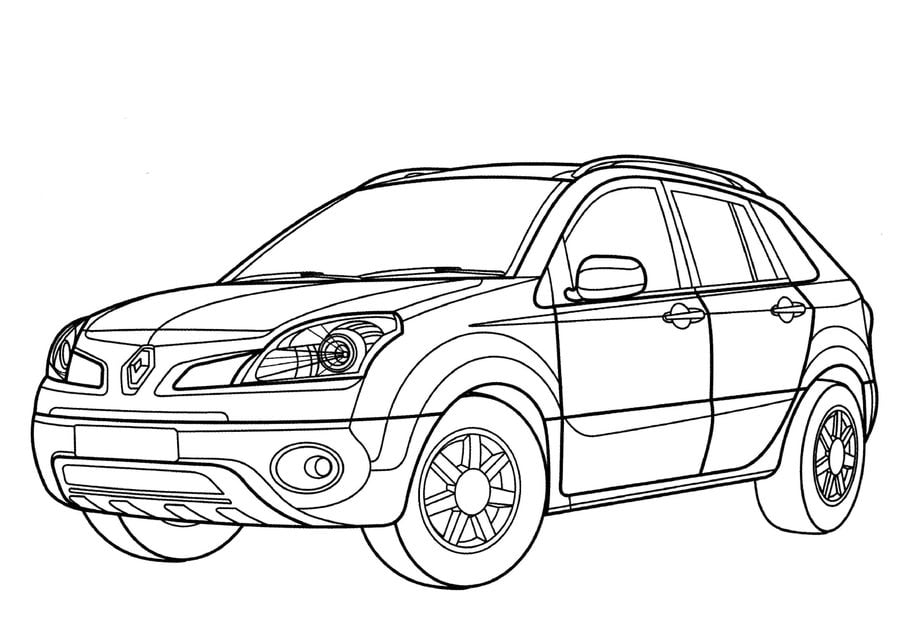Coloring pages: Coloring pages: Renault, printable for