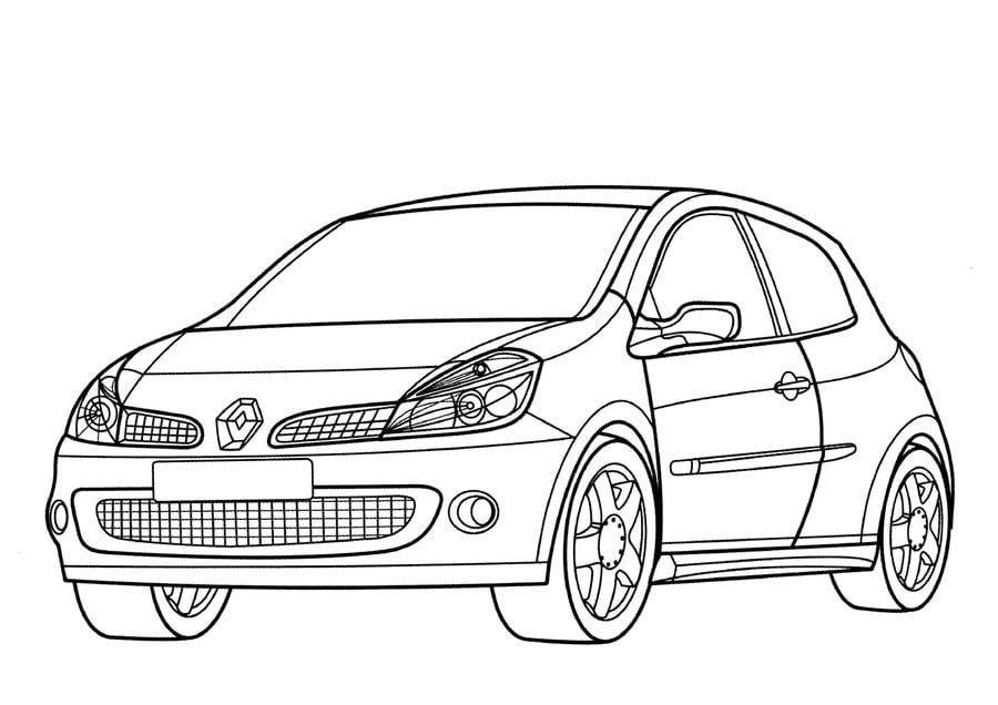 Ausmalbilder: Renault zum ausdrucken, kostenlos, für