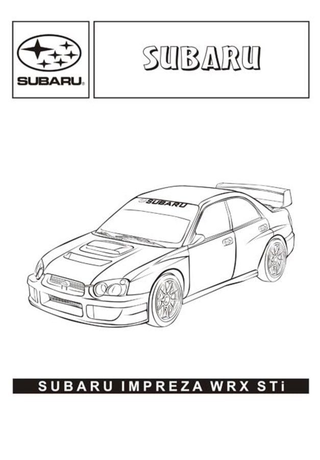 Ausmalbilder: Ausmalbilder: Subaru zum ausdrucken
