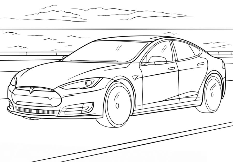 Coloring pages: Coloring pages: Tesla, printable for kids