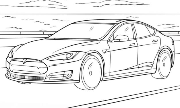 Coloring pages: Tesla