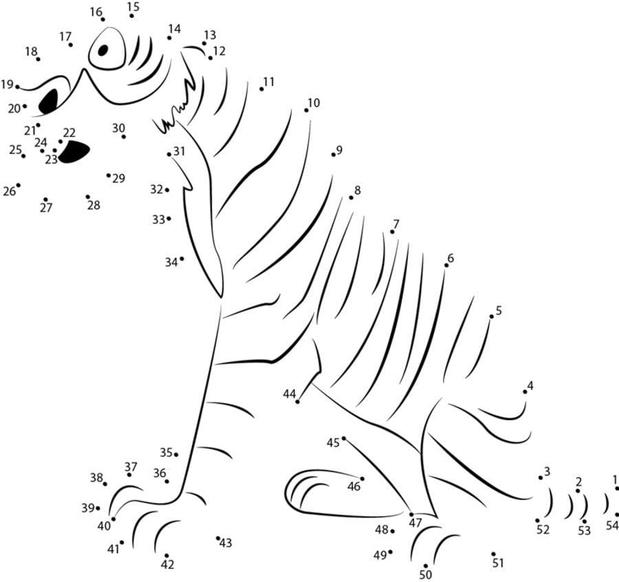 Unir puntos: El libro de la selva imprimible, gratis, para
