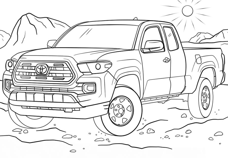 Coloring Pages Coloring Pages Toyota Printable For Kids