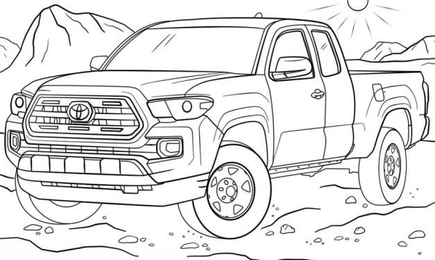 Coloring pages: Toyota