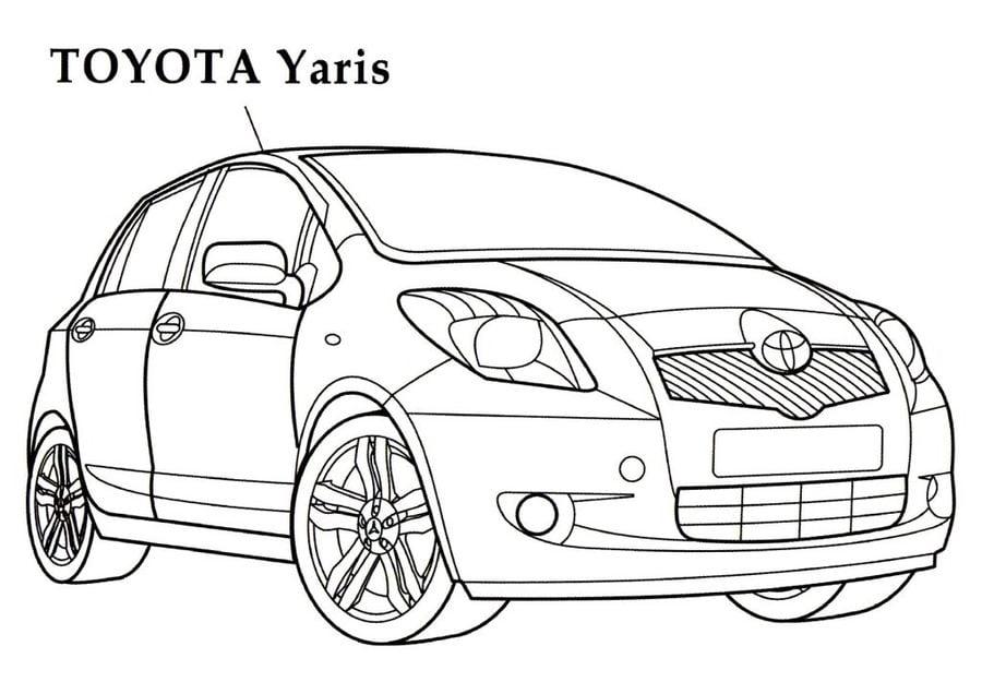 Kolorowanki: Toyota do druku dla dzieci i dorosłych