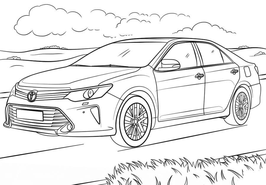 Coloriages: Toyota imprimable, gratuit, pour les enfants