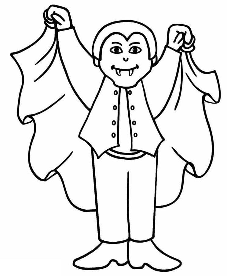 Disegni da colorare: Vampiro stampabile, gratuito, per