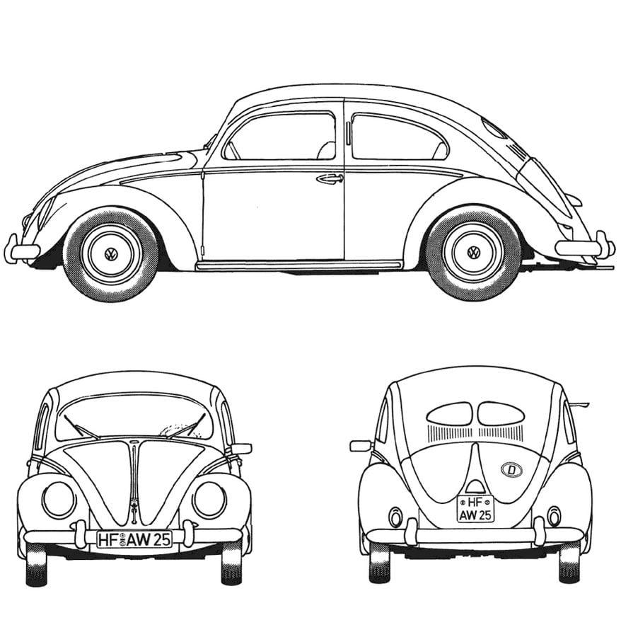Ausmalbilder: Ausmalbilder: Volkswagen zum ausdrucken