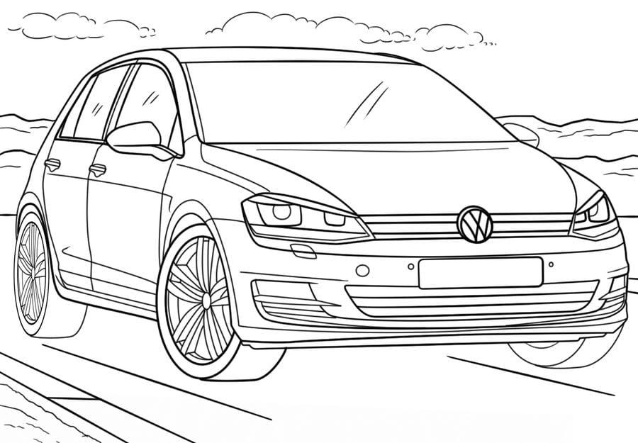 Kolorowanki: Kolorowanki: Volkswagen do druku dla dzieci i